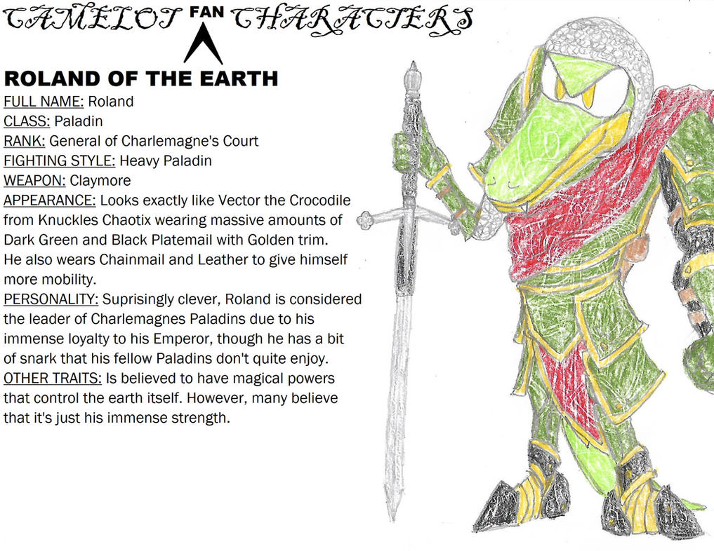 (SatBK) Fan Art - Roland of the Earth by Shoke113