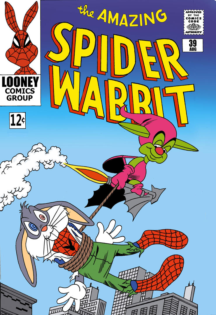 SpiderWabbit and The Green Gremlin by roperseid