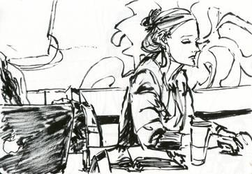 Starbucks girl 1 by jamjiggy123