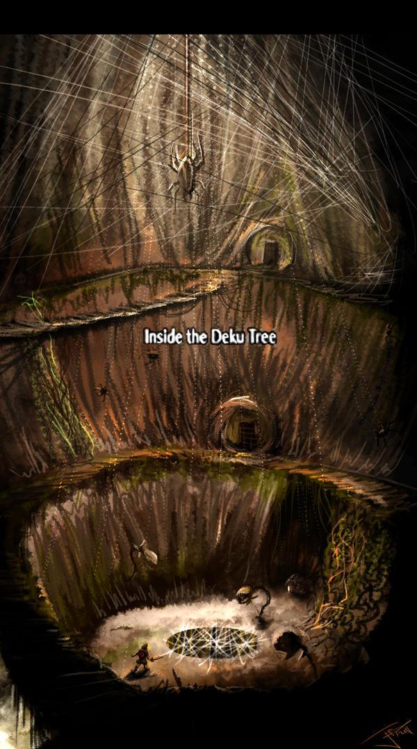Inside the Deku Tree by SuperPhazed