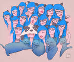 Girl with the blue hair