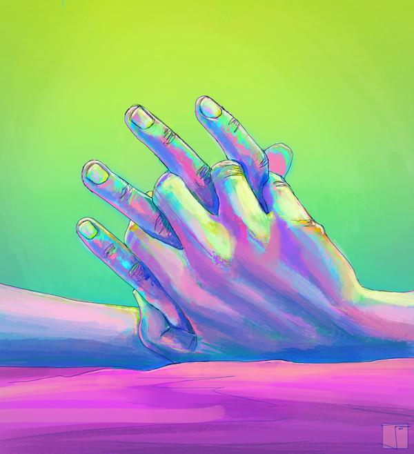 Art Holding Hands