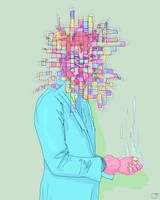 untitled psychedelic drawing by SuperPhazed