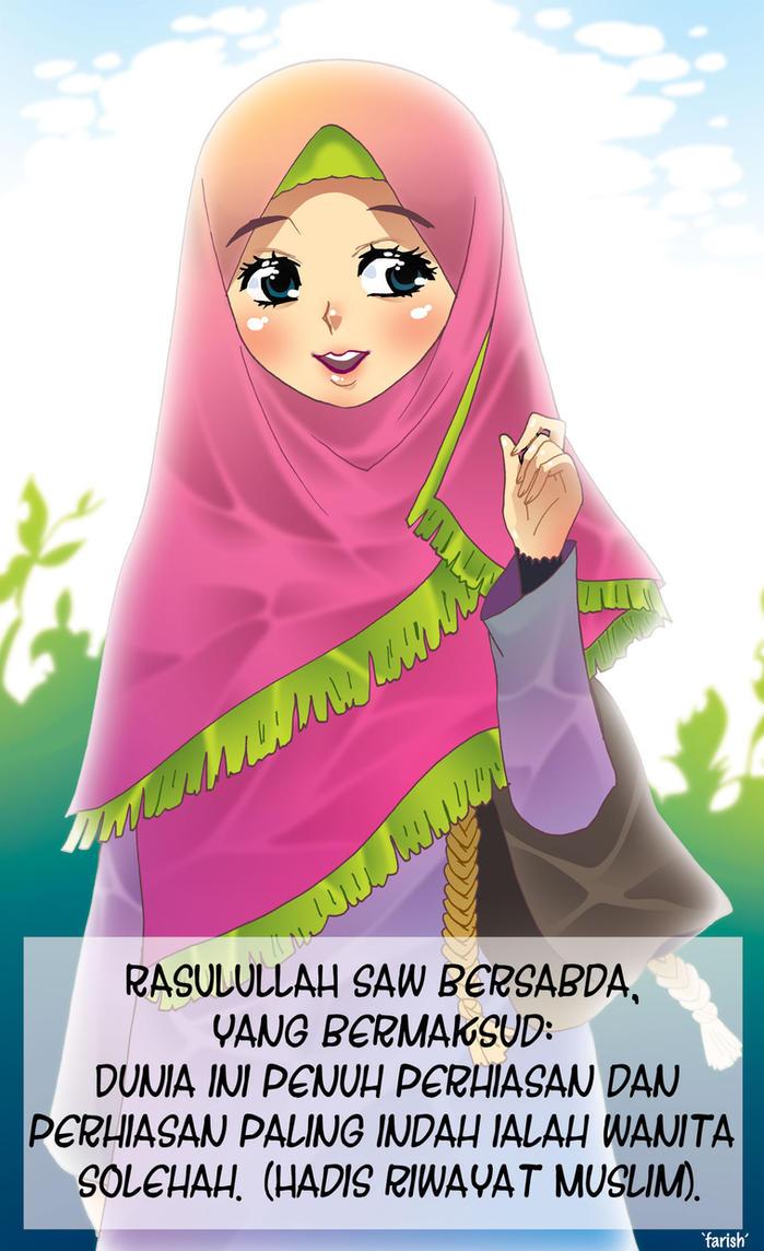 Koleksi Wallpaper Kartun Berhijab Wallpaper