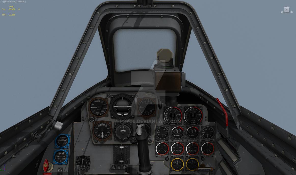 Me 262 3D cockpit for simulator by Psy06 on DeviantArt
