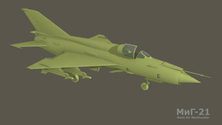 Mig-21 late. Made for Warthunder
