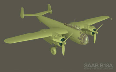 SAAB B18a for Warthunder video game