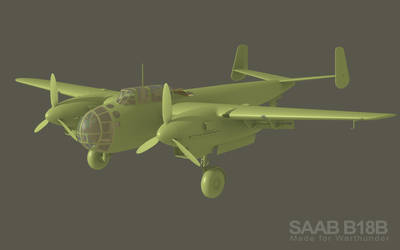 SAAB B18b for Warthunder video game