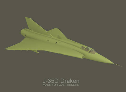J35d Draken, made for Warthunder