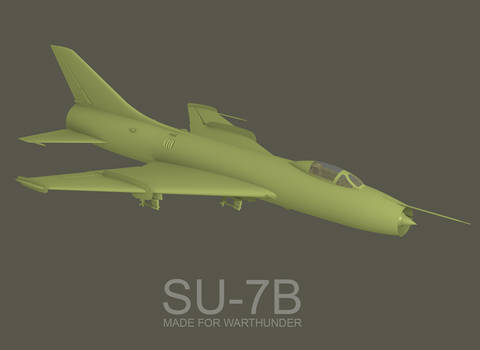Su-7b, made for Warthunder