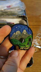 mountain skull patch