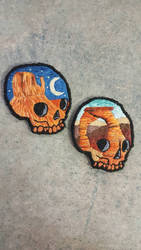 monument valley and arches national park skulls