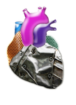 render cyborg heart