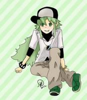 .:Green Stripes - N:. by SonicBoom24