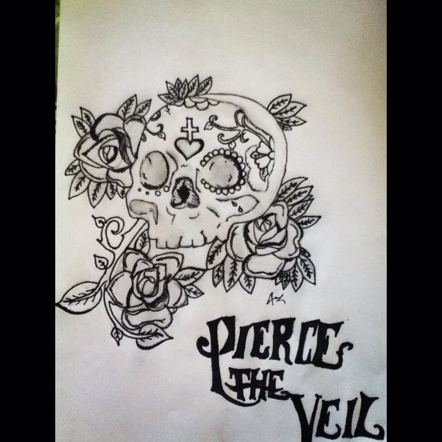 pierce the veil sugar skull by inkblothearts on deviantart