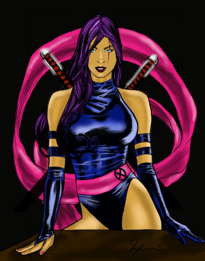 Psylocke X Men Psylocke x-men by goloka