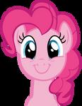 Pinkie Pie Happy Face Vector
