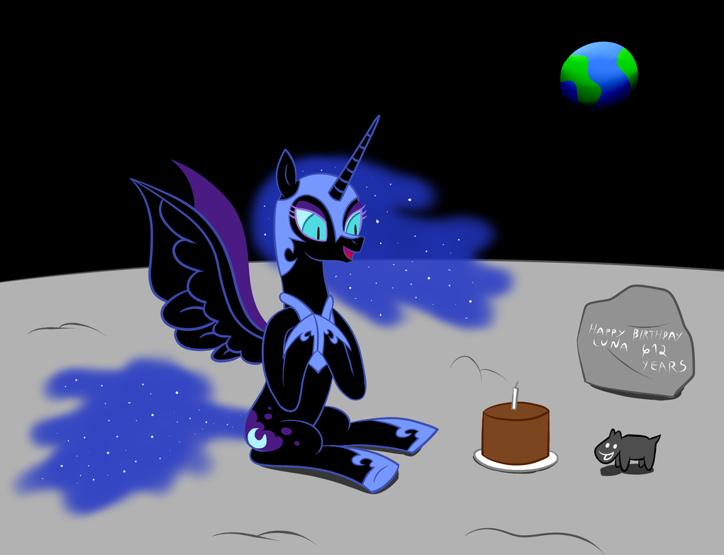 Happy Birthday Nightmare Moon! by RCupcake