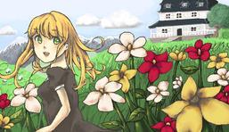 in the flower field - wip by laniessa