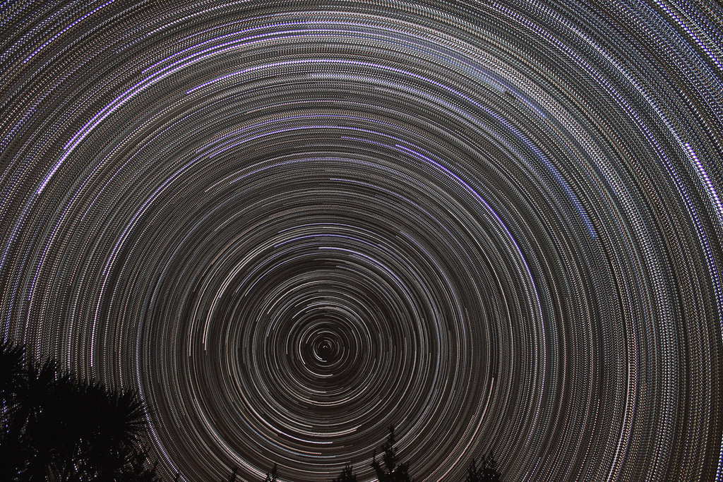 Star trails at the South Celestial Pole by astronomymike