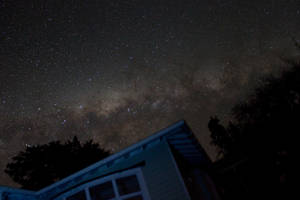 My house at the centre of the Milky Way by astronomymike