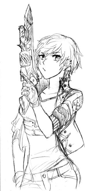 Anime Girl With Gun By FrioFurious On DeviantArt