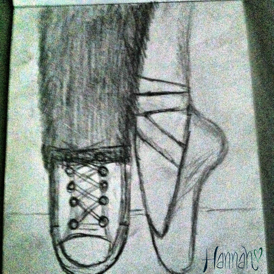 50ccbb3e956d Pointe Shoes and Converse! by LittleFallOfRain33 on DeviantArt