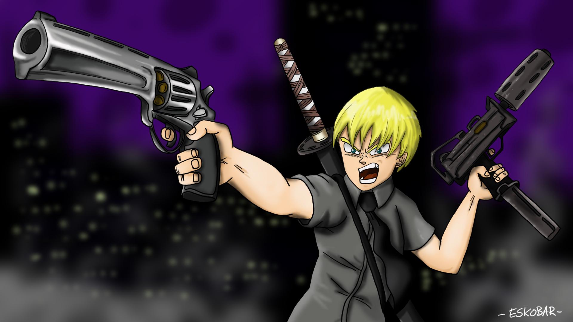 AnimeBoy Katana Wallpaper by artwork-eskobar on DeviantArt