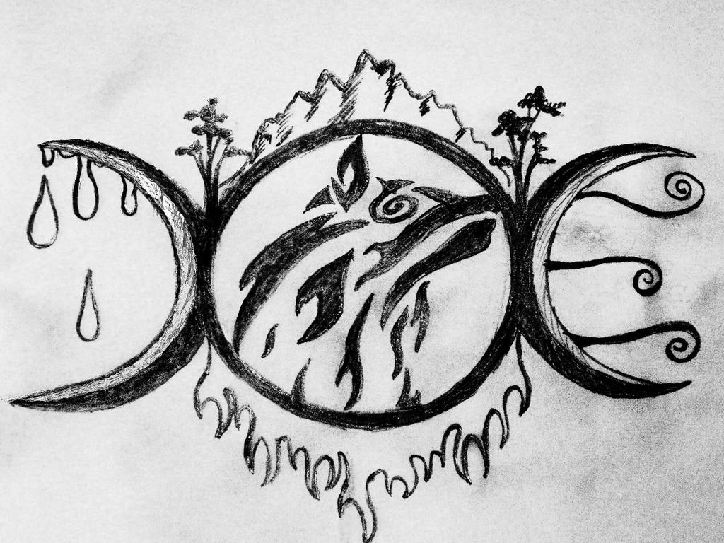 Triple Moon Tattoo by Alltoomuch on DeviantArt
