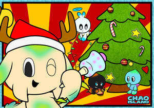 Chao Island Christmas Colouring 2018