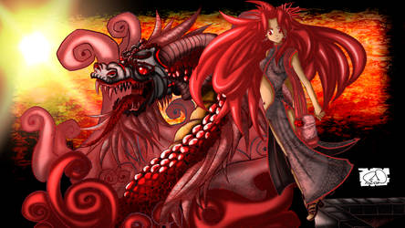 Sthefanny Art! and her dragon ...