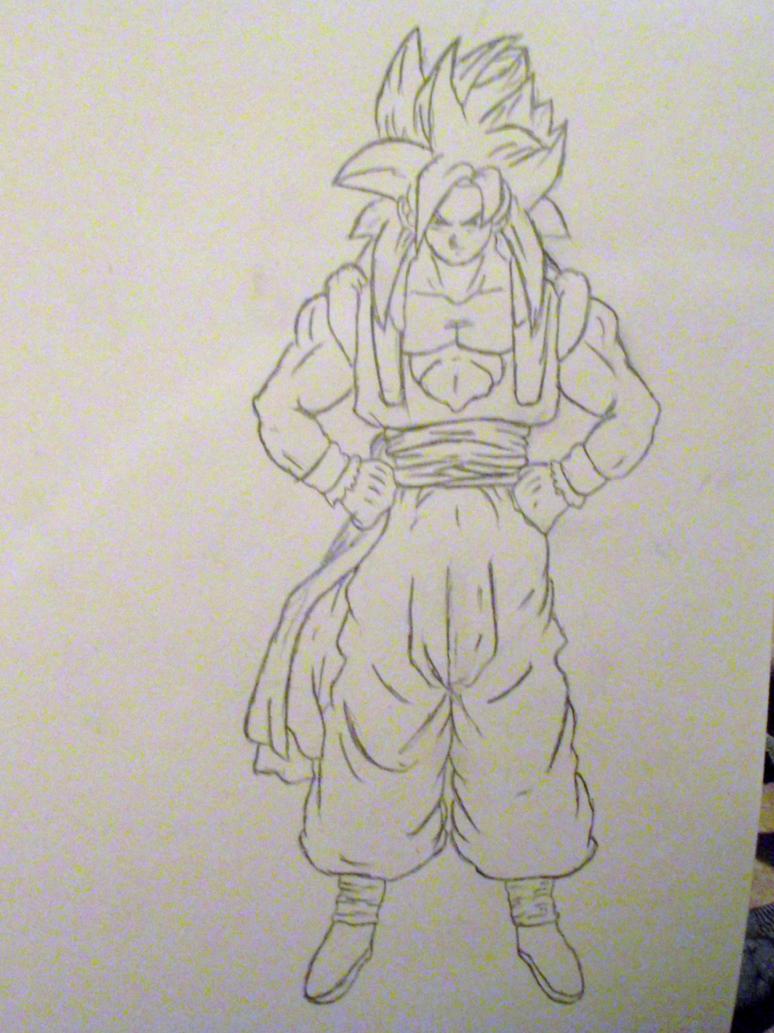 Gogeta SSJ4 Drawings
