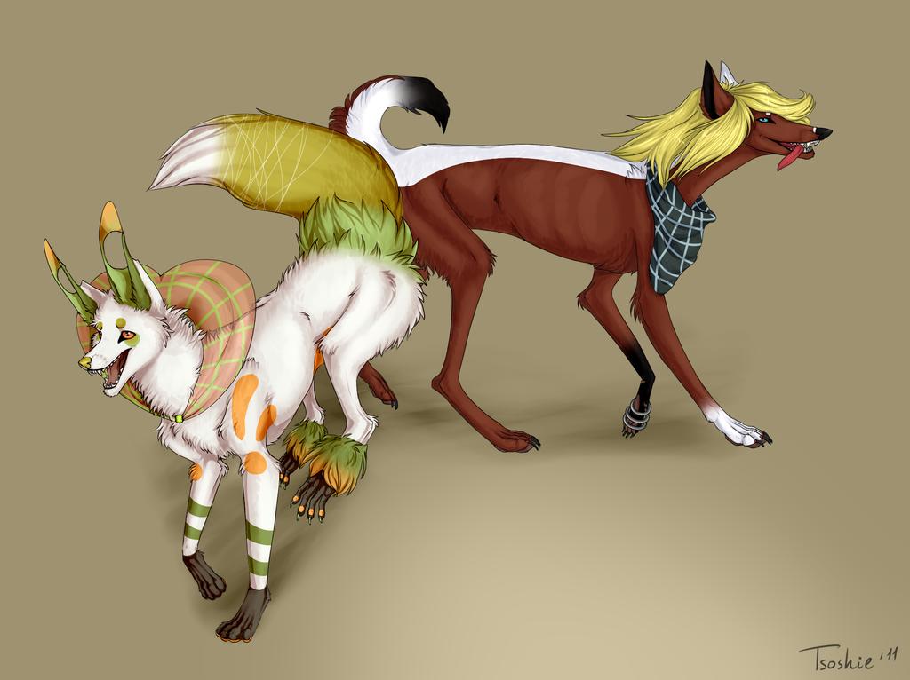 Katsu and Lelya by Tsosh