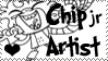 Chip jr artist stamp by VivzMind