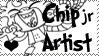 Chip jr artist stamp by VivzMind