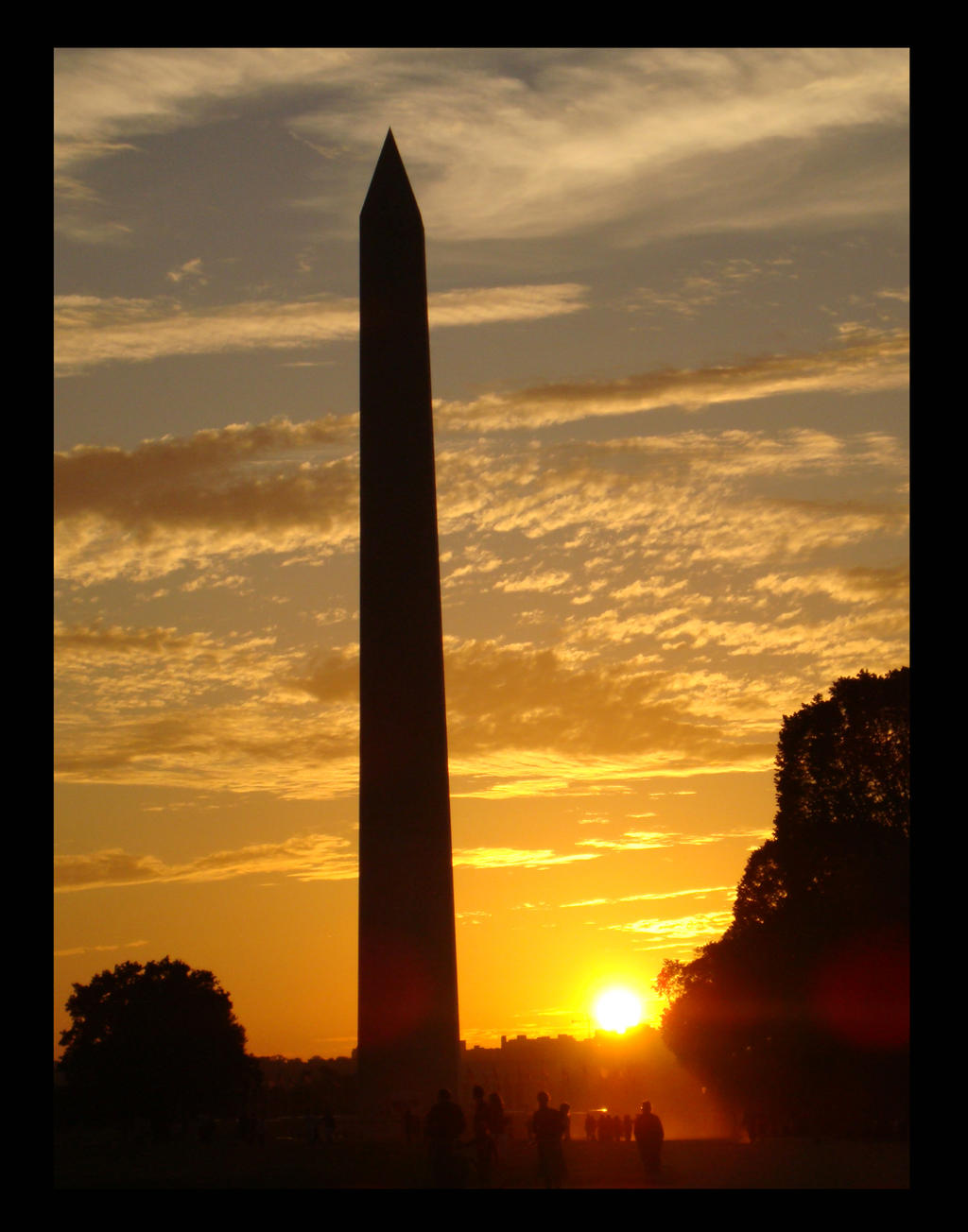 National Monument at Sunset by VivzMind