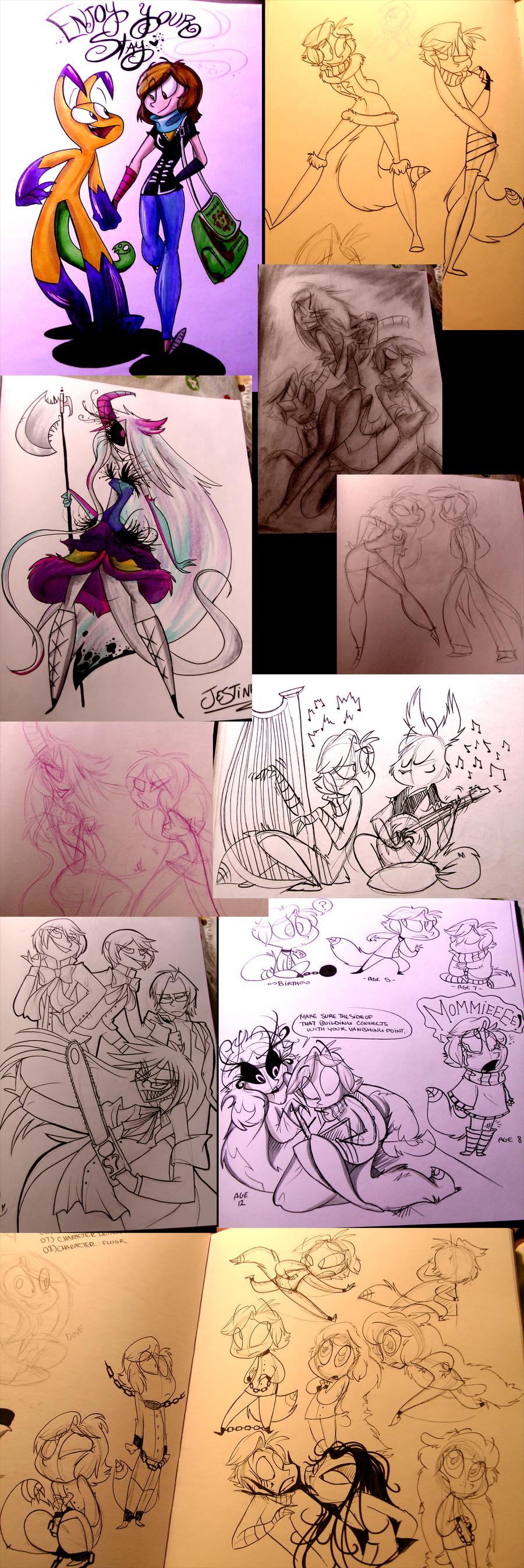Sketchbook SneekPeekz 2 by VivzMind