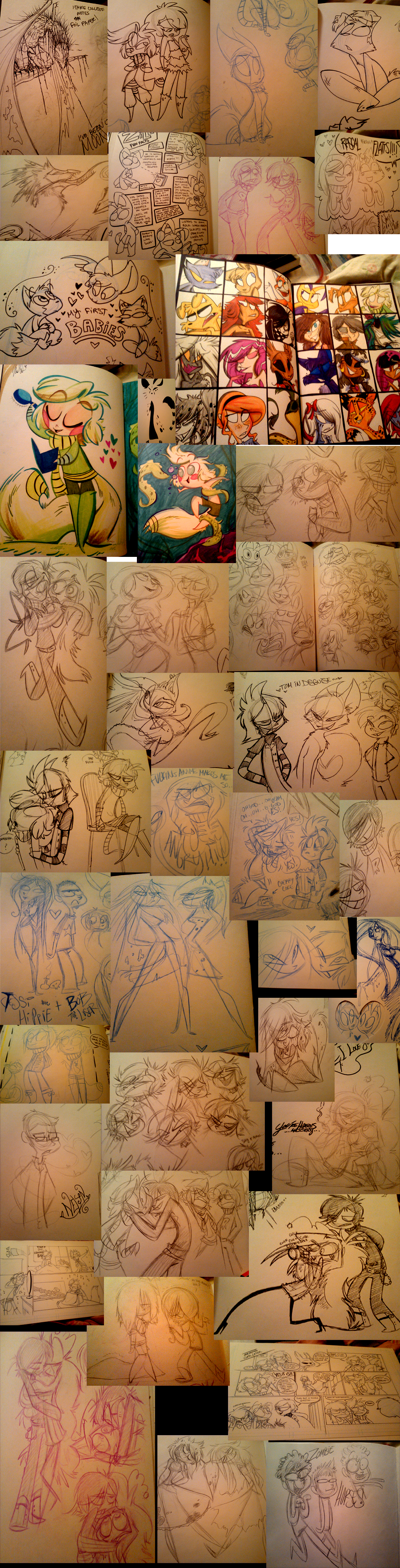 5th Sketchbook sketchdump by VivzMind