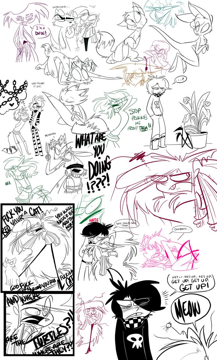 Tumblr doodles 3 by VivzMind