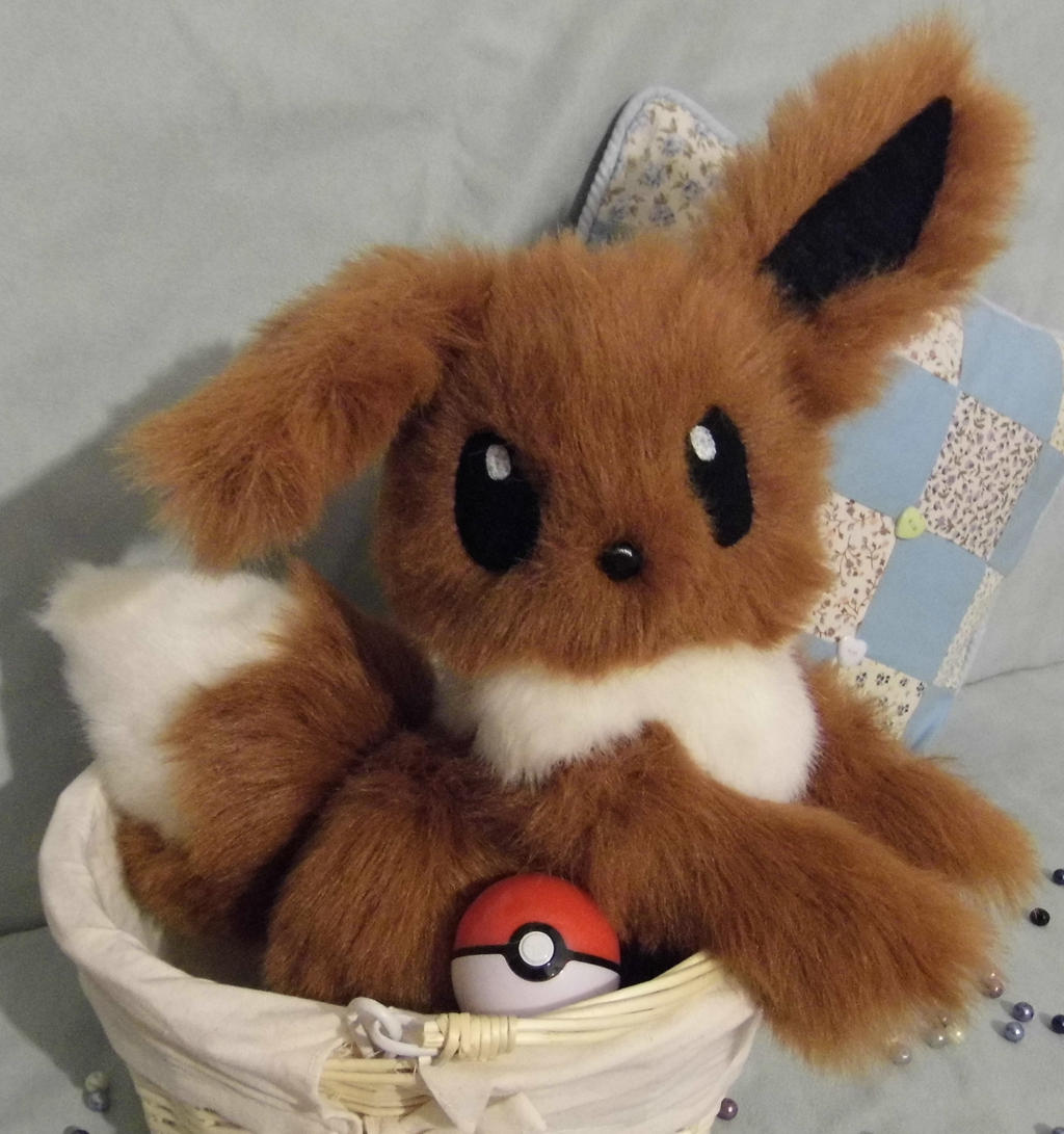 Fully Poseable Eevee plushie -SOLD- by angelberries