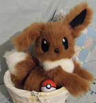 Fully Poseable Eevee plushie -SOLD-
