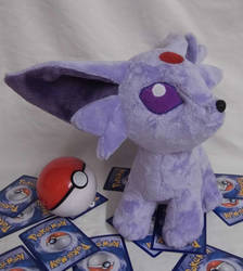 Custom minky Pokemon Espeon plushie by angelberries