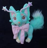 Custom plush Fantasy cat by angelberries