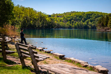 Green Lakes State Park - Gone Fishin'
