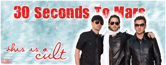 30 Seconds To Mars Cult Banner by crazy-rodents