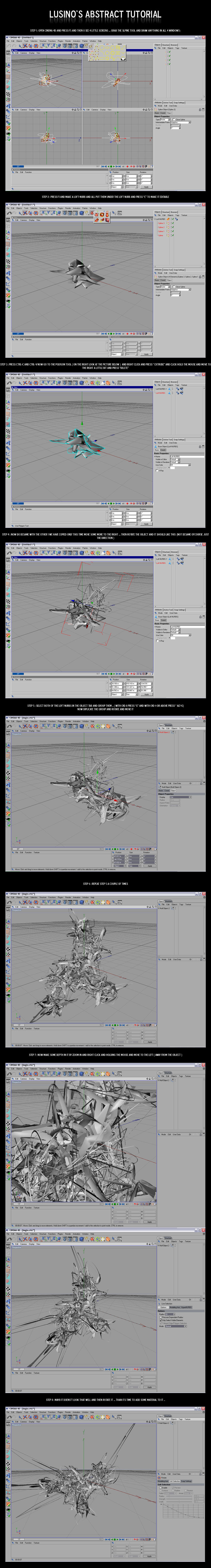 Lusino's C4D tutorial Part 1 by Lusino