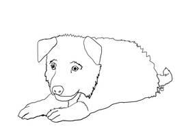 GSD Puppy lineart by NinjaChinHo