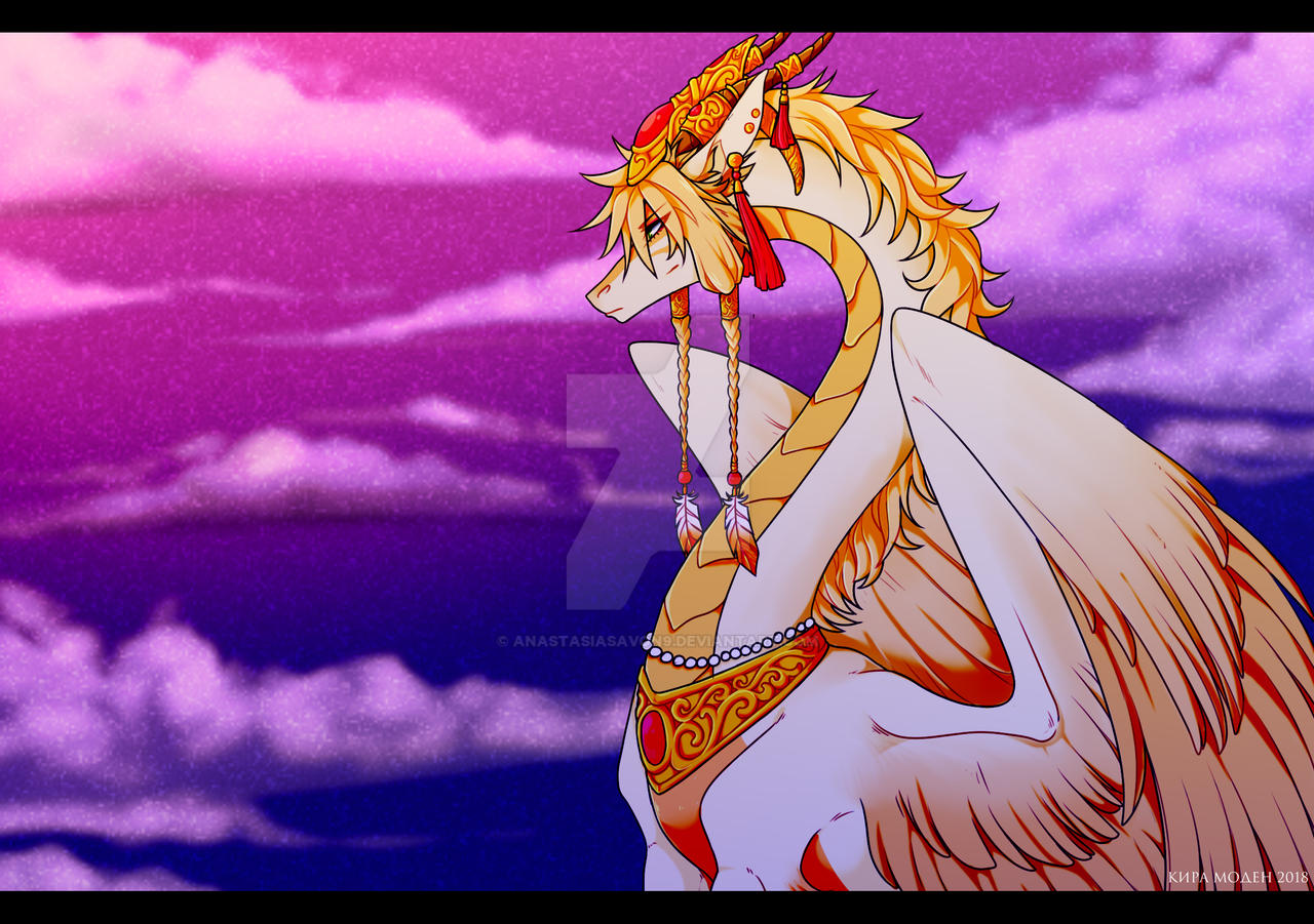 Sunset Dragon by Mythka on DeviantArt |Dragons And Sunsets