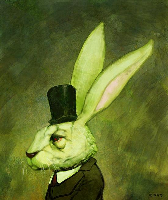 speedpaint - rabbit portrait by enveuz