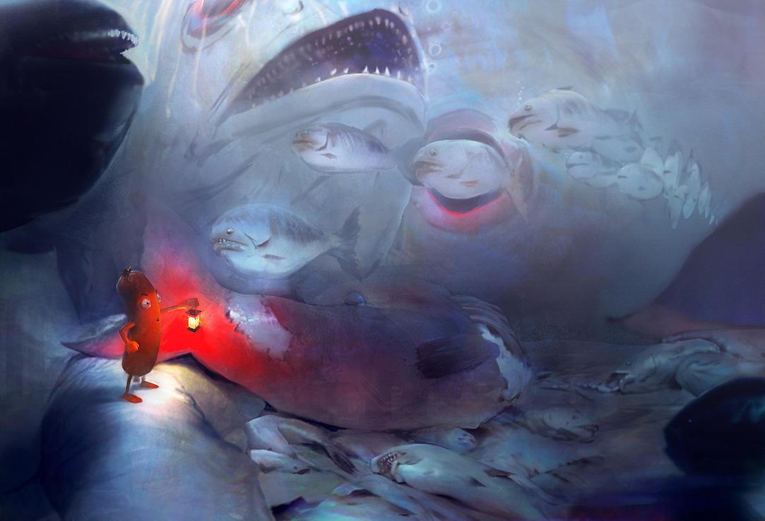 Big fish eat little fish by enveuz on deviantart for Big fish eat small fish